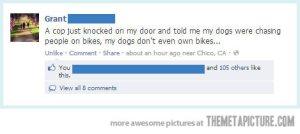 funny-Facebook-status-cop-dogs-bike