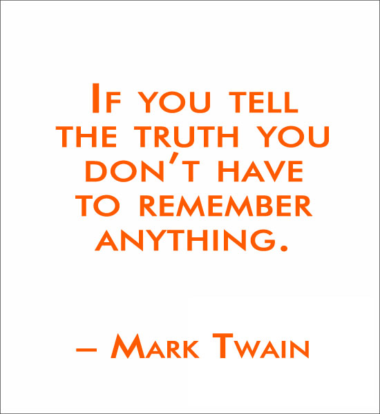 If You Tell the Truth Mark Twain